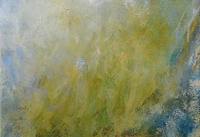 Metallic Abstract Painting - Let The Earth Bring Forth Grass by Laurie Hein