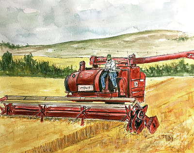 Painting - Let The Harvest Begin by Tim Ross