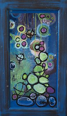 Painting - Let The Stones Read, Abstract 6 by Laurie Maves ART