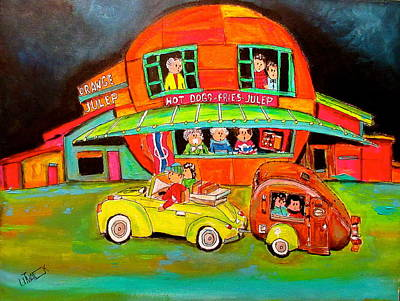 Orange Julep Painting - Let The Trip Begin At The Julep by Michael Litvack