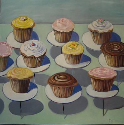 Let Them Eat Cupcakes Art Print by Yvonne Dagger
