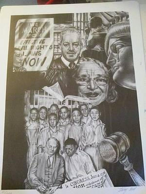 Civil Liberties Drawing - Let There Be Justice by Stacey Hall