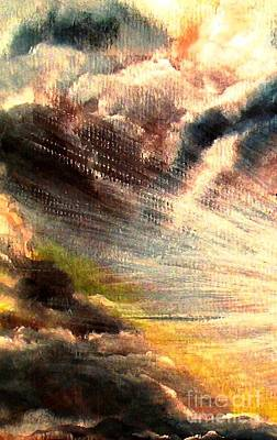 Gods Sunlight Painting - Let There Be Light by Hazel Holland