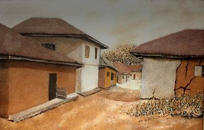 Painting - Let There Be Peace In Our Land by Bankole Abe