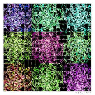 Photograph - Let Us Neon Abstract by Nina Silver