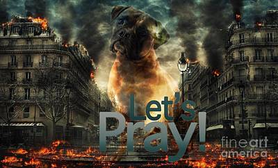 Digital Art - Let Us Pray-2 by Kathy Tarochione