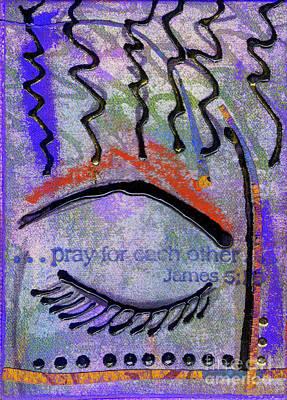 Let Us Pray Print by Angela L Walker