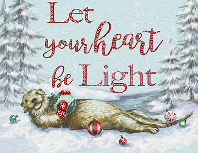 Otter Mixed Media - Let Your Heart Be Light by Heidi Thompson
