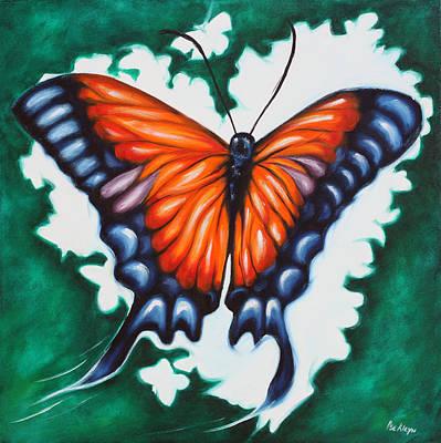 Let Your Heart Fly Art Print by Ilse Kleyn