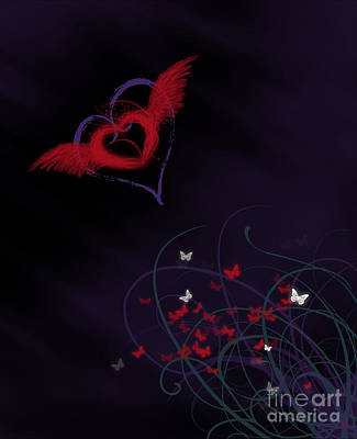 Digital Art - Let Your Heart Take Wings by Linda Lees
