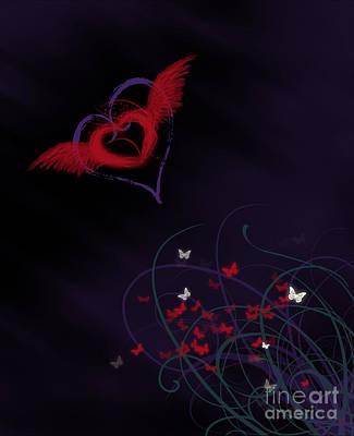Digital Art - Let Your Heart Take Wings by Linda Lees