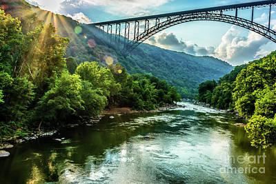 New River Gorge Bridge Photograph - Let Your Light Shine by Thomas R Fletcher