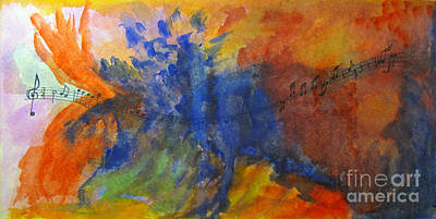 Let Your Music Take Wing Art Print by Sandy McIntire