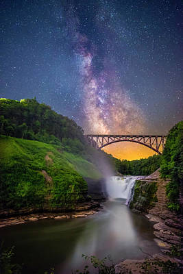 Photograph - Letchworth And The Milky Way by Mark Papke