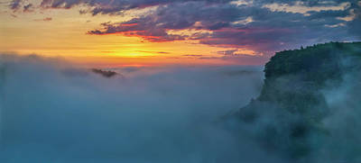 Photograph - Letchworth Fog At Sunrise by Mark Papke