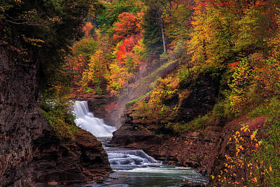 Photograph - Letchworth Lower Falls 2 by Mark Papke