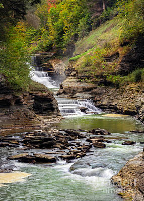 Photograph - Letchworth Lower Falls by Karen Jorstad