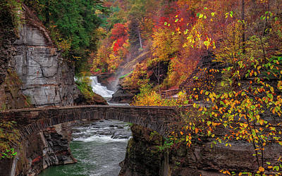 Letchworth Lower Falls Art Print
