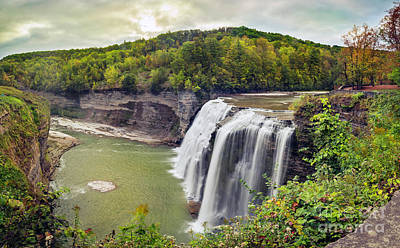 Photograph - Letchworth Middle Falls Gorge Vista by Karen Jorstad