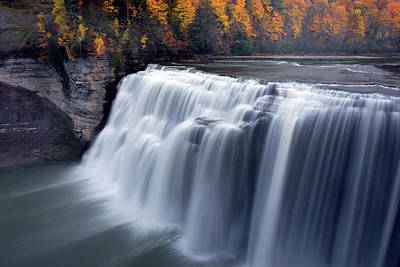 Letchworth Middle Falls II Art Print by Timothy McIntyre
