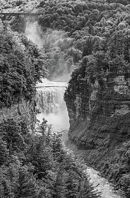 Photograph - Letchworth State Park 3 Bw by Steve Harrington