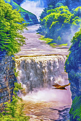 Photograph - Letchworth State Park 4 - Paint by Steve Harrington