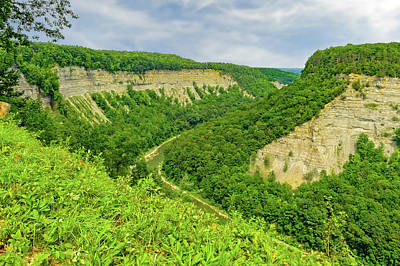 Photograph - Letchworth State Park Canyon   -   Letchworthgorge172383 by Frank J Benz