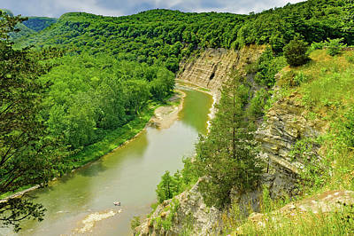 Photograph - Letchworth State Park Canyon  -  Letchworthparkgorge172390 by Frank J Benz