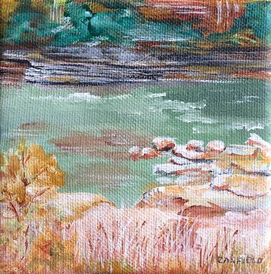 Painting - Letchworth State Park by Ellen Canfield