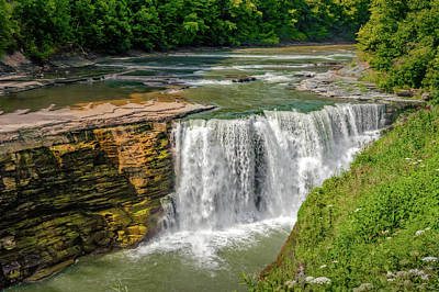 Photograph - Letchworth State Park Lower Falls  -  Letchworthlowerfalls172309 by Frank J Benz