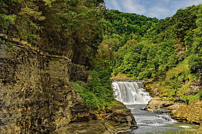 Photograph - Letchworth State Park Lower Falls  -  Lowerfallsletchworthpark172298 by Frank J Benz