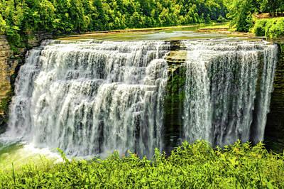 Photograph - Letchworth State Park Middle Falls  -  Letchworthmiddlefall172354 by Frank J Benz