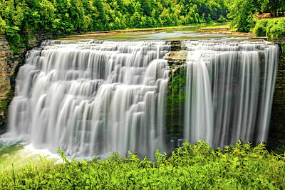 Photograph - Letchworth State Park Middle Falls  -  Letchworthparkmiddlefall172353 by Frank J Benz