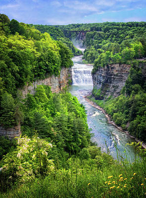 Photograph - Letchworth State Park Ny by Carolyn Derstine
