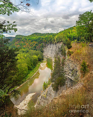 Photograph - Letchworth State Park Overlook Near Tea Table by Karen Jorstad