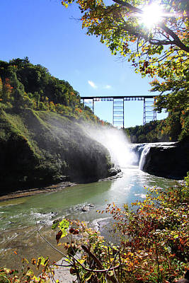 Photograph - Letchworth State Park Railroad Bridge by Trina Ansel