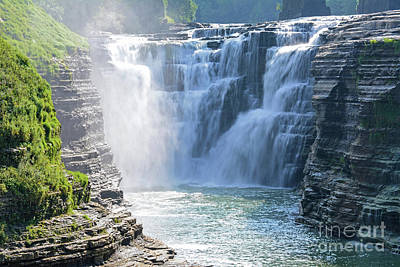 Photograph - Letchworth State Park Upper Falls by Third Eye Perspectives Photographic Fine Art