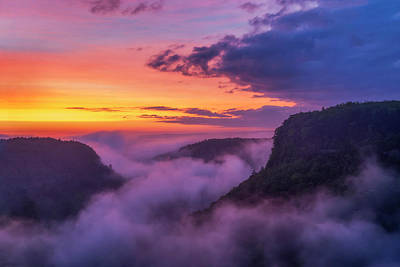 Photograph - letchworth Sunrise 2 by Mark Papke