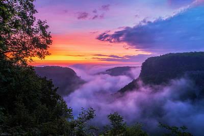 Photograph - Letchworth Sunrise by Mark Papke