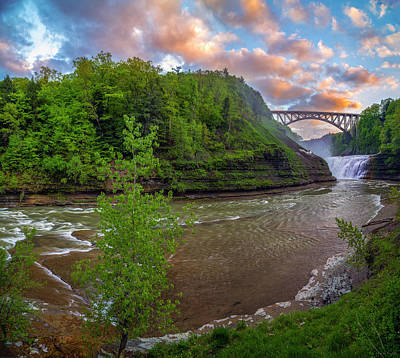 Photograph - Letchworth Upper Falls by Mark Papke