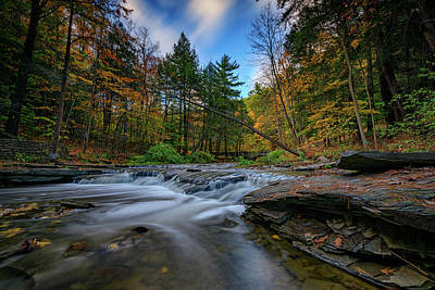 Fall Foliage New York Wall Art - Photograph - Letchworth's Wolf Creek  by Rick Berk