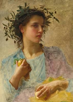 Etes Painting - L'ete by William-Adolphe Bouguereau
