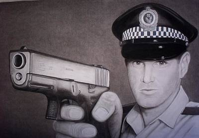 Glock Drawing - Lethal Force by Brendan SMITH