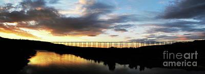 Photograph - Lethbridge Bridge Sunset Panorama by Vivian Christopher