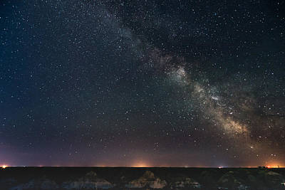 Photograph - Lethbridge In The Milky Way by Dwayne Schnell