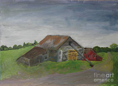 Painting - Letournneau Farm Barn by Donna Walsh