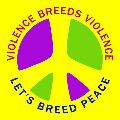 Breed Digital Art - Let's Breed Peace by David G Paul