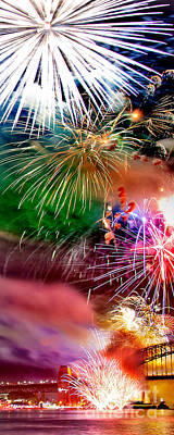 Fireworks Photograph - Let's Celebrate by Az Jackson