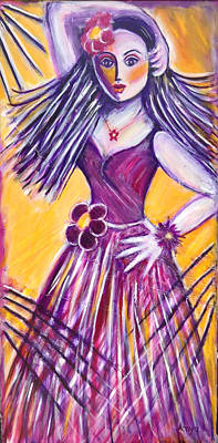 Art Print featuring the painting Let's Dance by Anya Heller