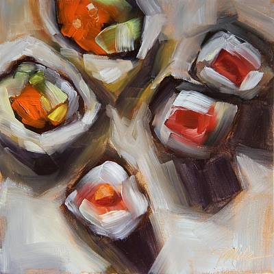Painting - Let's Do Sushi by Tracy Male